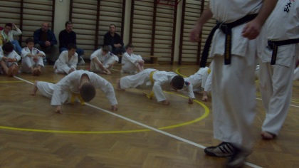 Pompki karate OYAMA pod okiem sensei