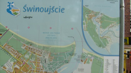 Mapa Świnoujścia