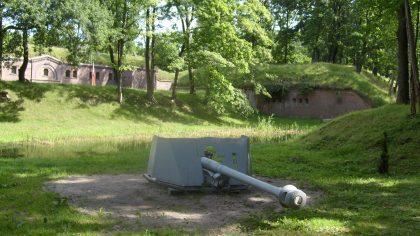 Fort Gerharda wewnątrz - armata
