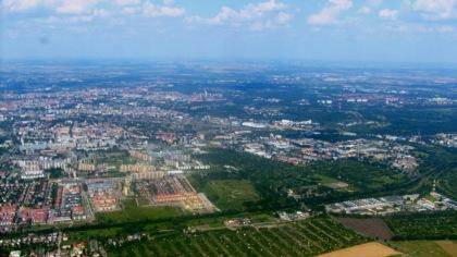 Widok z lotu Wrocław 1