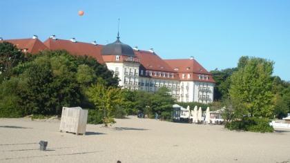 34FPFF Sopot widok z mola na Grand Hotel