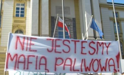 Nie jesteśmy mafią paliwową - piketa URM 10.09.2009