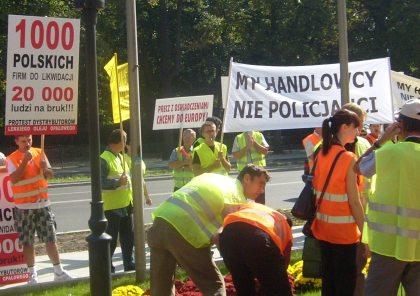 Nie jesteśmy policjantami piket URM 10.09.2009