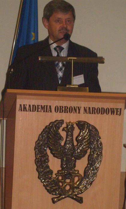 Geopolityka Prorektor AON dr hab Stanisłąw Zajas