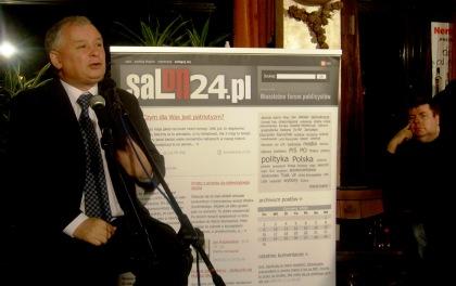 Prezes PIS Jarosław Kaczyński odpowiada na pytania blogerów z Salonu24.pl