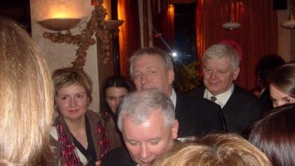 Bloger Kejow w kolejce do rozmowy z Prezesem PIS Jarosławem Kaczyńskim