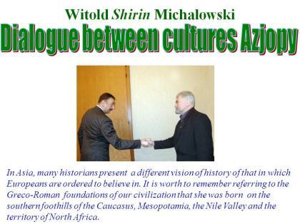 Michałowski wita się z Prezydentem Azerbajdżanu