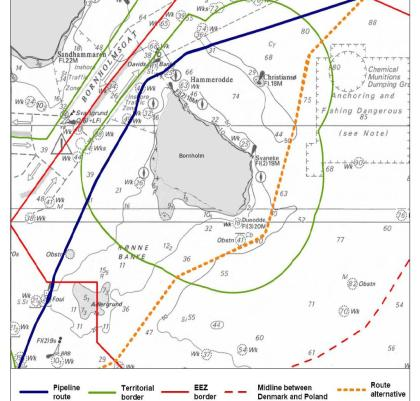 Mapa hydrograficzna Bornholmu