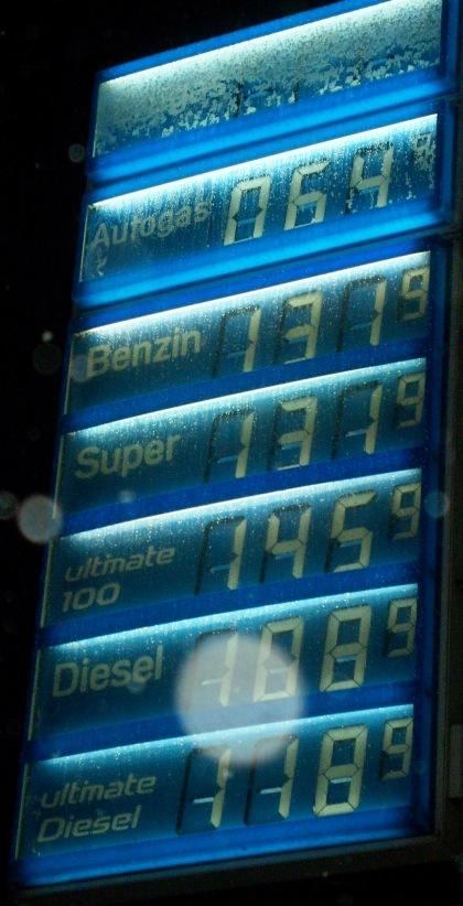 Ceny paliwa w Berlinie 03.02.2010