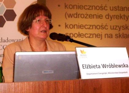 Elżbieta Wroblewska Departament Energetyki Ministerstwo Gospodarki