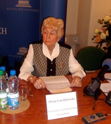 Alicja Gawlikowska Przew. Klubu Kobiet Ravensbruck