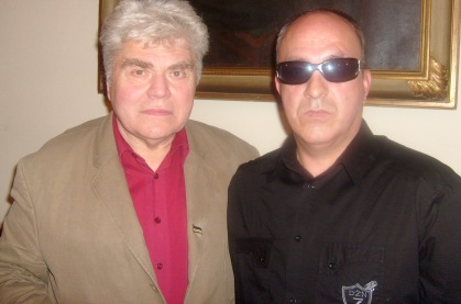 Autor  z czeczeńskim generałem na promocji ksiązki 28.04.2010