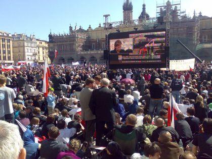 Kraków telebeam Rynek 18.04.2010