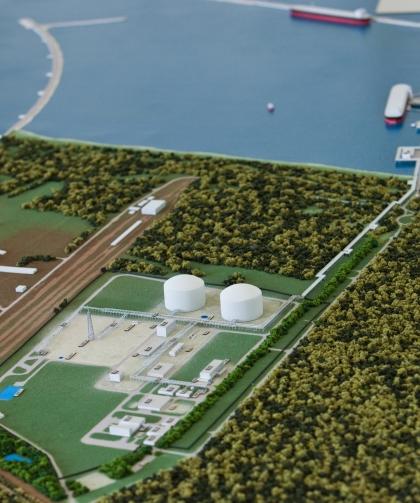 Makieta terminalu LNG Świnoujście