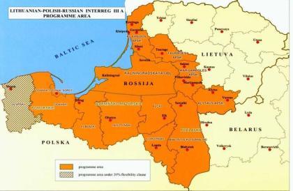Mapa regionalnej współpracy z Kalingradem