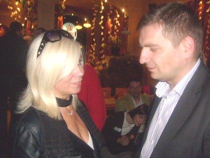 Blogerka i Bartosz Arłukowicz w kuluarach Salonu24.pl