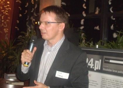 Igor Janke szef Salonu24.pl powitanie na IV urodzinach