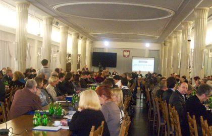 Uczestnicy konferencji Towarzystwa Nauczycieli Szkół Polskich