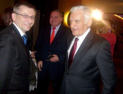 Min. Sprawiedliwości Krzysztof Kwiatkowski i Przewodniczący Parlementu Europejskiego Jerzy Buzek