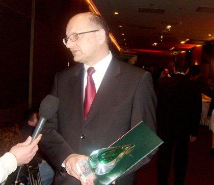 Prezydent Lublina dr  Krzysztof Żuk Gmina przyjazna środowisku - Laureat