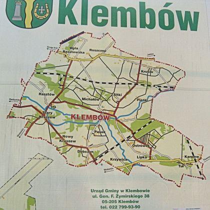Mapa Gminy Klembów