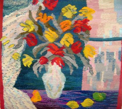 Kwiaty gobelim Barbara Michałowska