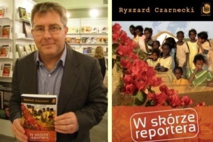 "Ryszard Czarnecki z książką pt. W skórze reportera"""