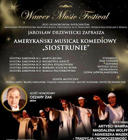 Plakat Musicalu  Siostrunie na Wawer Music Festival 18.12.2011